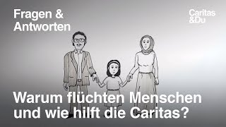 """""""Auf der Flucht"""" - Caritas"""
