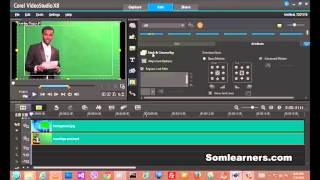 How to chrome key green background with Corel video studio prox8