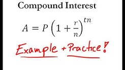 Compound Interest - Easy Example + Practice