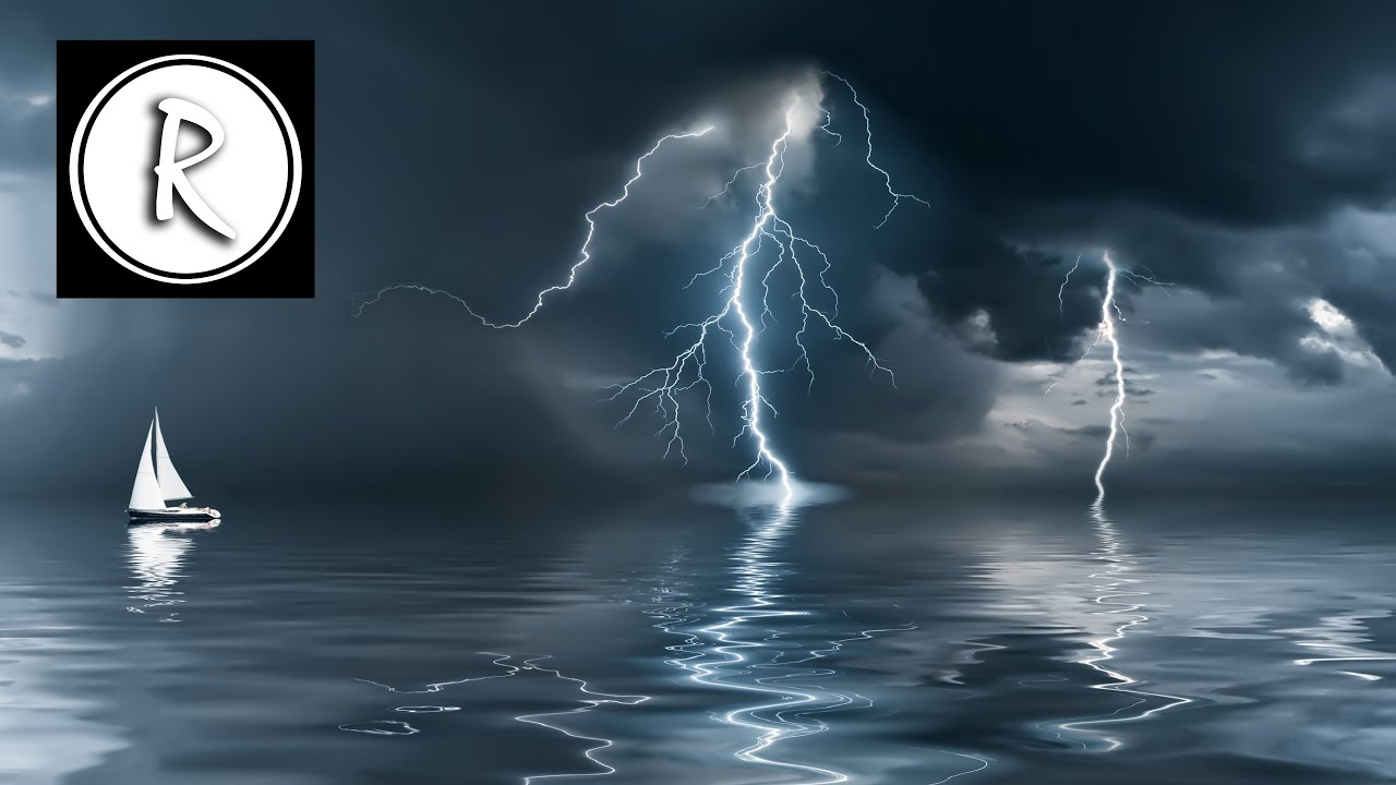 3 Hours Powerful Thunderstorm Sound Relaxing White