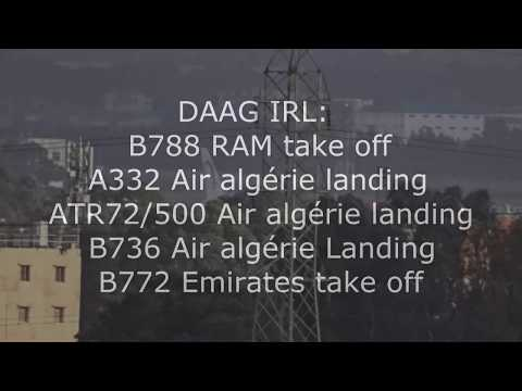 Algiers : Take off: Boeing 787,777   Landing: A332, Boeing736, ATR72/5