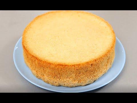 """Бисквит """"из ничего"""" ! Самый простой рецепт пышного бисквита"""