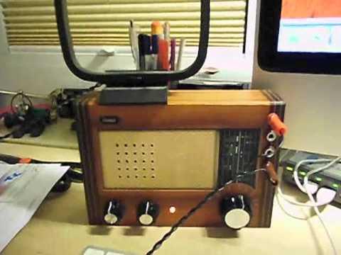 kurzwellen retro radio wird zum sender doovi. Black Bedroom Furniture Sets. Home Design Ideas