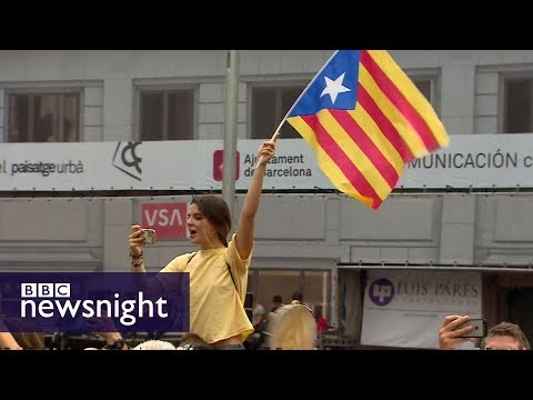 Catalans take to streets against police violence in referendum vote - BBC Newsnight