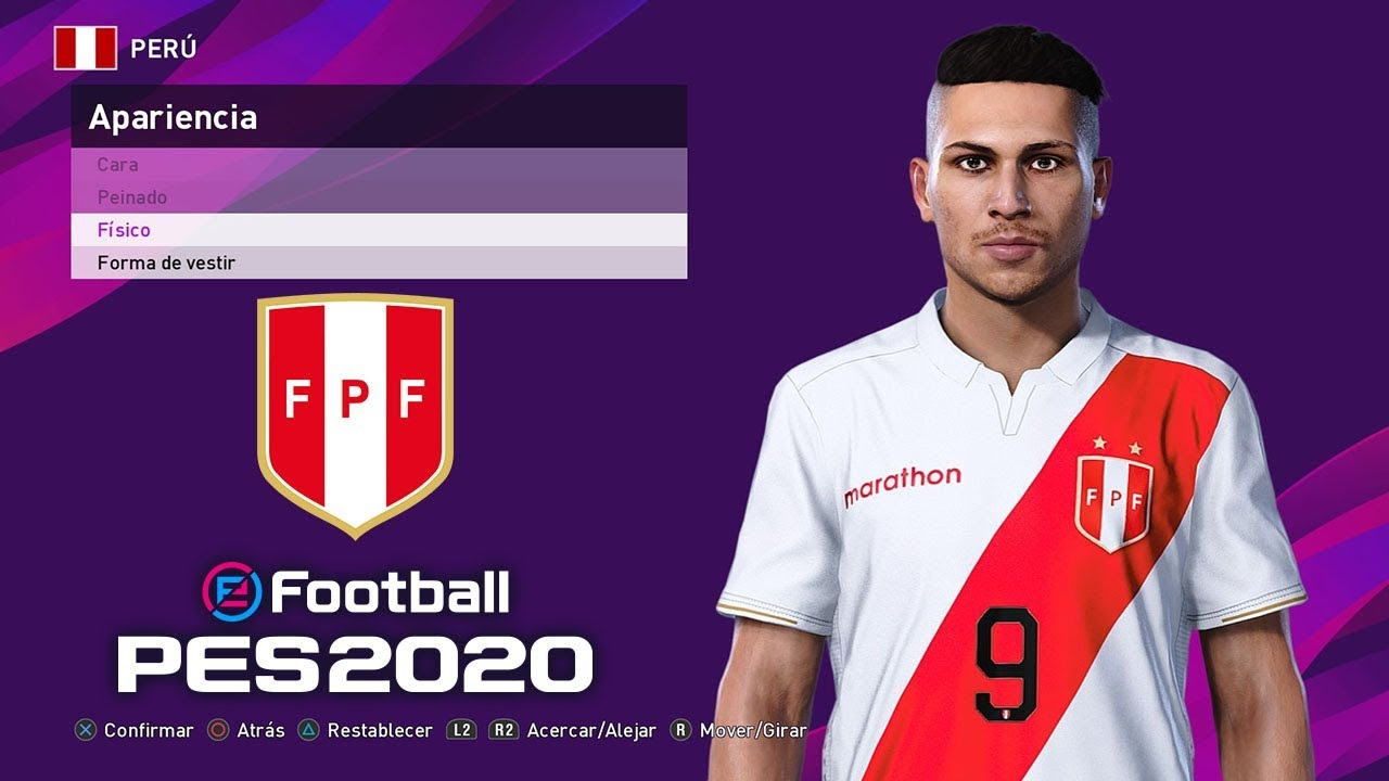 PES 2020 | SELECCION PERUANA (FACES, KITS Y MAS) | Cafita96 - YouTube