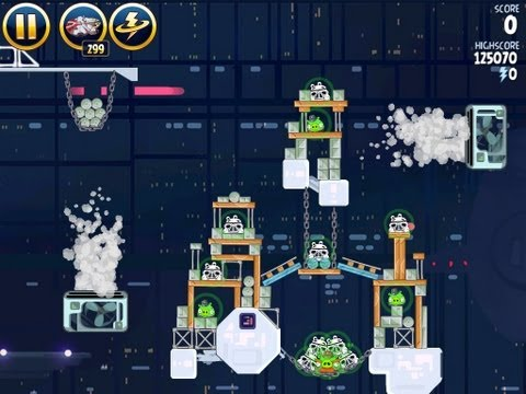 Angry Birds Star Wars 4-39 Cloud City 3 Star Walkthrough