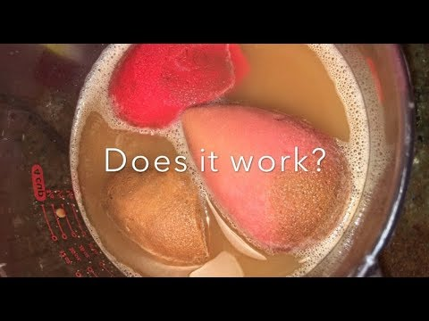 DOES CLEANING MY BEAUTY BLENDER IN THE MICROWAVE WORK? #BEAUTYHACK .... #ORNAH?
