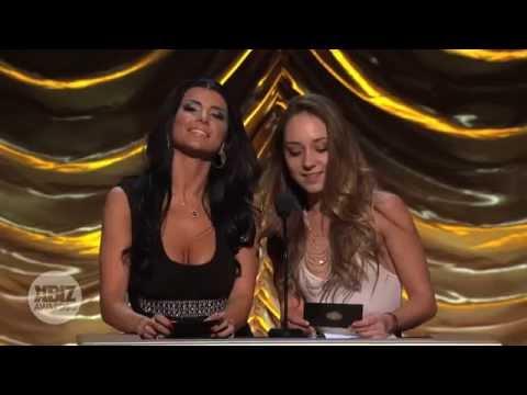 2014 XBIZ Awards - Ariel Rebel & Anissa Kate Win 'Best Scene All Girl' Award