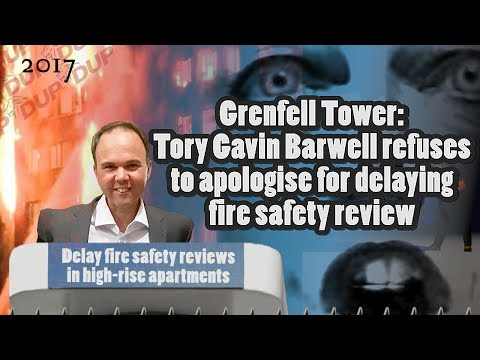 Gavin Barwell refuses to apologise for fire safety delay