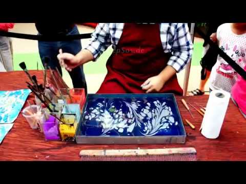 How to paint on Water for Paper Marbling/Ebru Art
