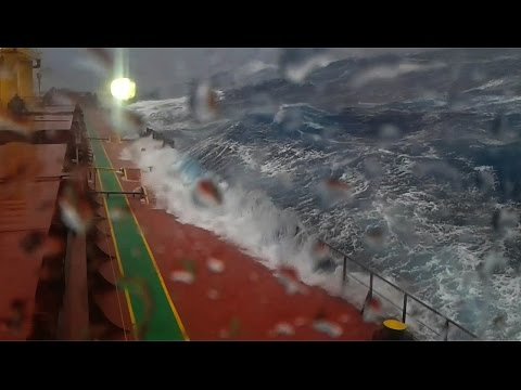 Ship in storm - South Africa offshore
