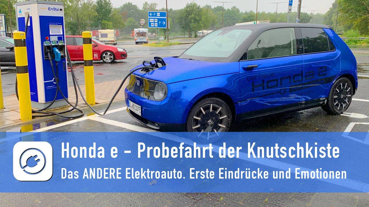 Honda e - Elektroauto Probefahrt - Sind Verbrauch und Reichweite akzeptabel?