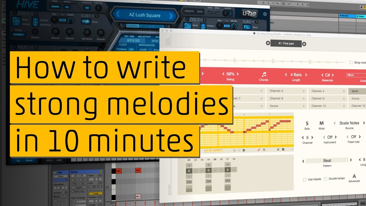How to write strong melodies (Music Production Tutorial)