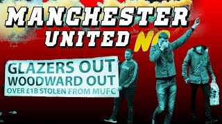 Manchester United Protest Outside Old Trafford Glazers Out