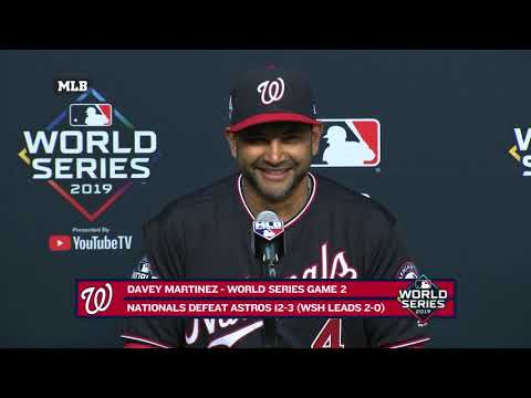 Davey Martinez after Nats dominate Astros in World Series Game 2