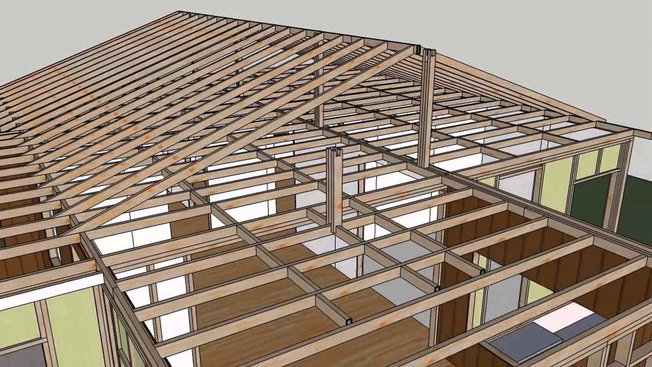 House Framing Materials : Small house construction materials animation sequence