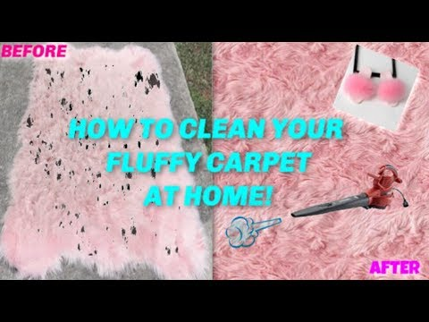 #HOWTO CLEAN YOUR FUR/FLUFFY CARPET/SLIPPERS #ATHOME ! #DIY !!