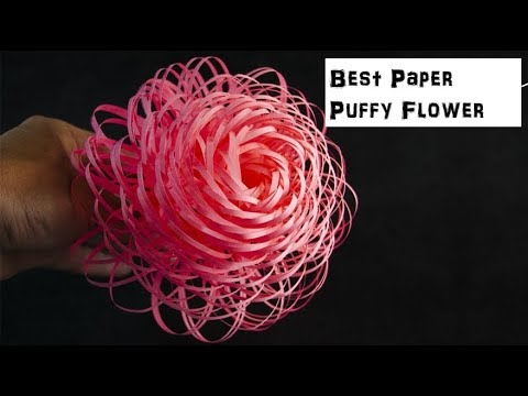 How To Make Fluffy Paper Flowers - DIY - Paper Craft | Best DIY | Eazy and Beautiful