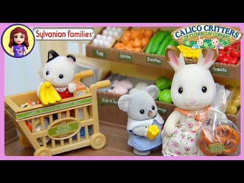 Sylvanian Families Calico Critters Supermarket Setup and Play - Kids Toys