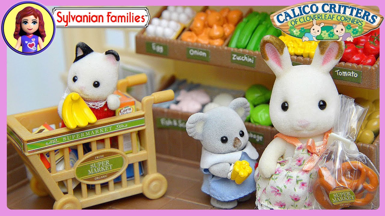 Sylvanian Families Calico Critters Supermarket Setup And