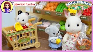 Sylvanian Families Calico Critters Supermarket Setup and Play - Kids Toys thumbnail