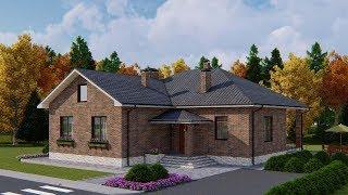 Проект одноэтажного дома на две семьи 123 кв.м. | SketchUp + Lumion 8
