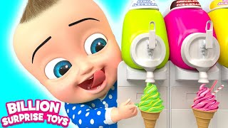 Download Twins Babies Yummy Ice cream  | + More Kids Songs | Billion Surprise Toys Mp3 and Videos