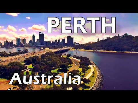 Perth City, Western Australia - Skyline And Tourist Attractions