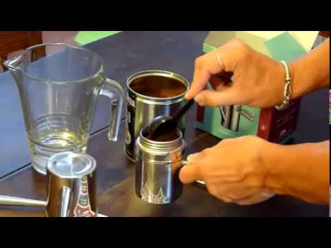 How To Use Napoletana Coffee Maker : caffettiera napoletana ILSA - using neapolitan coffee maker - YouTube