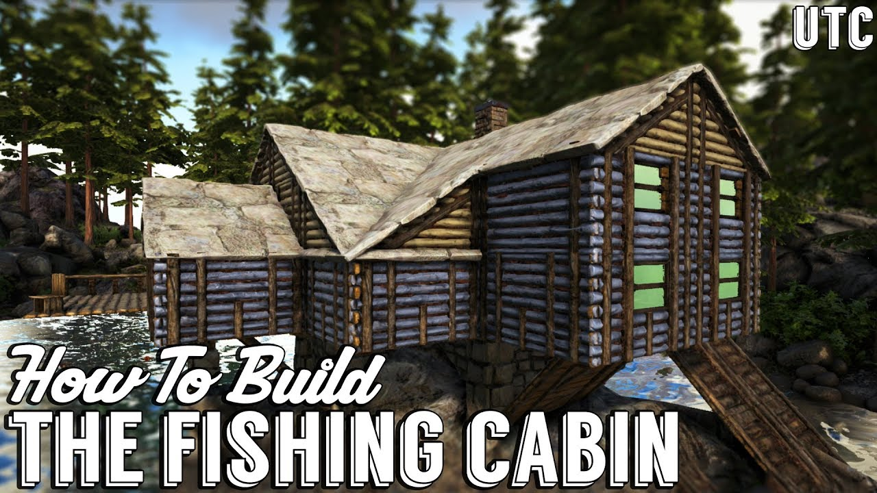 Ragnarok Fishing Cabin Ark Building Tutorial No Mods How To Build A Beach House Youtube