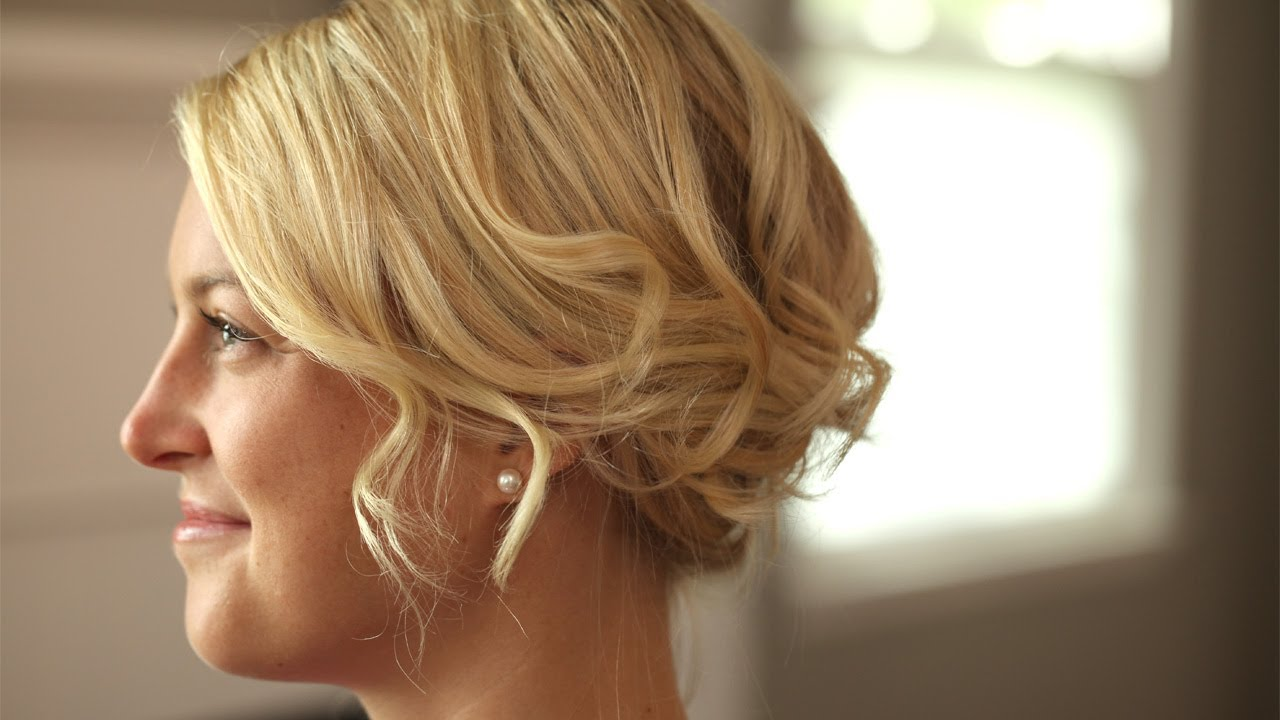 How To Create A Romantic Up-Do For Short Hair