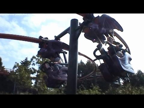 Vleermuis Suspended Coaster (including POV) - Plopsaland De Panne