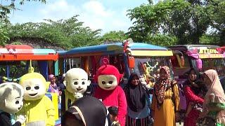 Naik Bus Tayo Ke Wisata Kebun Blimbing - Odong-Odong Kereta TAYO The Little Bus Tayo Upin Ipin Lala
