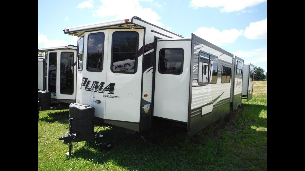 2016 puma 39bht 2 bedroom park model trailer camp out rv in stratford youtube for Two bedroom travel trailers for sale