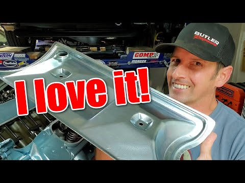 Tomahawk Valley Pan for Roller Lifters, review and install.  Pontiac Short Block, part 9