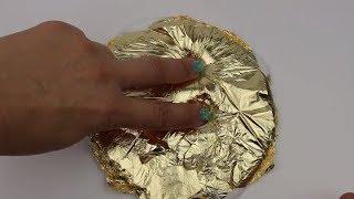 Altın Kaplama Slime Challenge! | Altın Pul vs Altın Folyo | Muhteşem Foil Slime! Bidünya Oyuncak