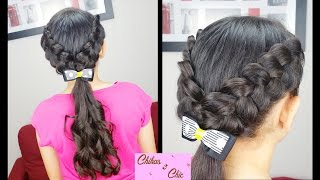 V Braids and Curls | Easy hairstyles | Hairstyles for School | Braided hairstyles | Curls