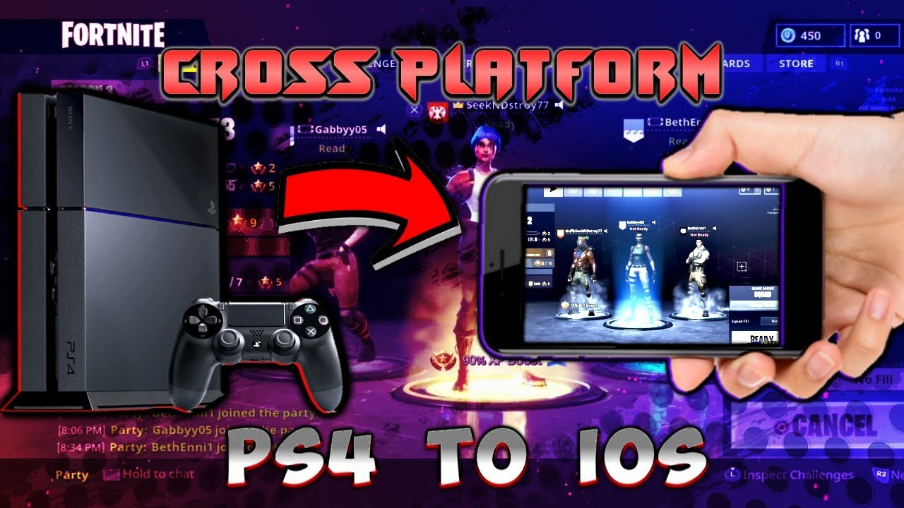 fortnite how to play cross platform between ps4 and ios working 2018 - fortnite cross platform chat issues