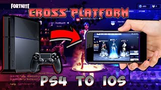 FORTNITE - HOW TO PLAY CROSS PLATFORM BETWEEN PS4 AND IOS!! | WORKING 2018!!
