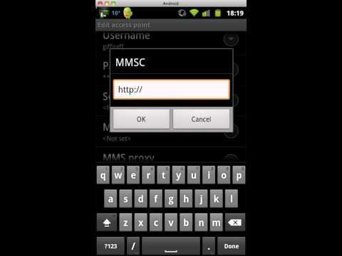 giffgaff APN setup on Android