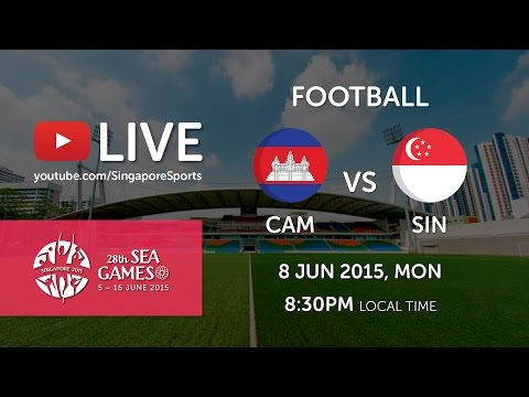 Football Cambodia vs Singapore (Jalan Besar Stadium Day 3) | 28th SEA Games Singapore 2015
