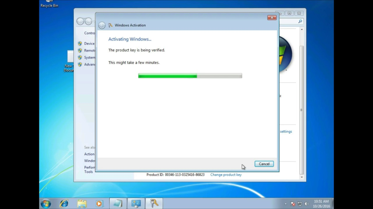 how to change activation key for windows 7