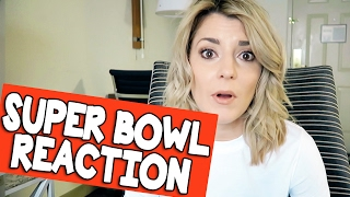 MY REACTION TO THE SUPER BOWL // Grace Helbig