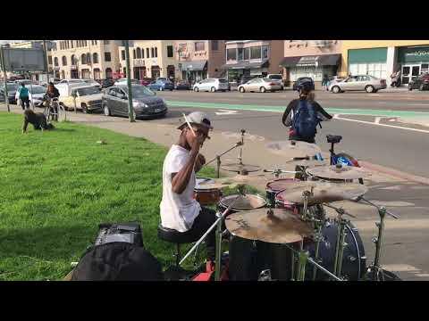 DrummerBoyAaron Performs Rude Boy by Rihanna live. Ft his drunk back up Dancer