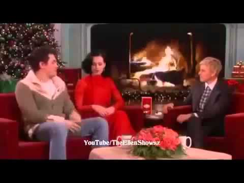 Katy Perry and John Mayer on The Ellen DeGeneres Show 2013
