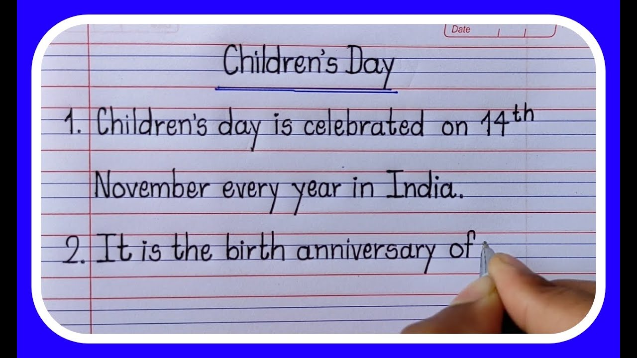 Download 10 Lines Essay On Childrens Day/Children's Day-Learn Essay Speech