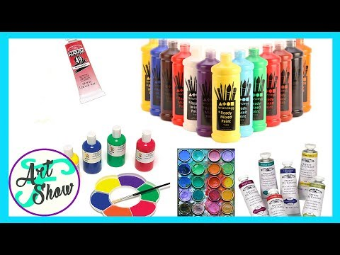 Different types of paints for beginners   Fatema's Art Show