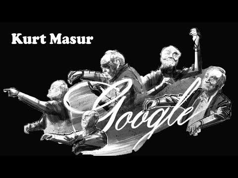 Google Doodle celebrates renow kurt masur