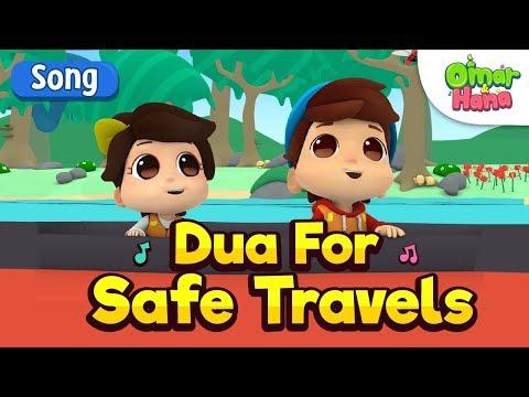 Omar & Hana | Dua For Safe Travel| Islamic Cartoon for Kids | Nasheed