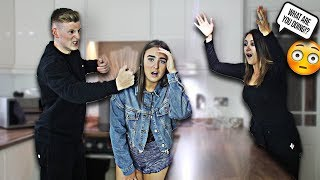 I HIT MY LITTLE SISTER IN FRONT OF MY MUM PRANK!! *she went crazy*